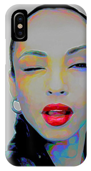 Rhythm And Blues iPhone X / XS Case - Sade 3 by Fli Art