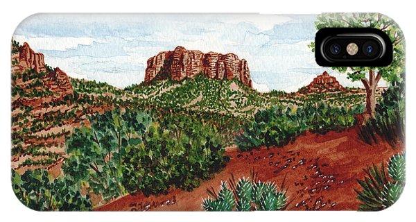 Sadona Two Mountains IPhone Case