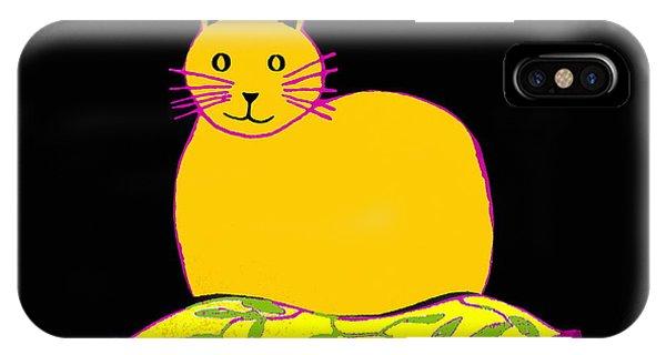 Saffron Cat On Black IPhone Case