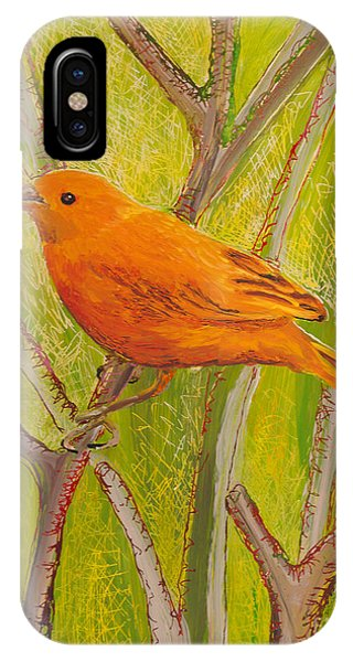 Saffron Finch IPhone Case