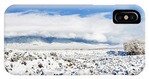 Sangre De Cristo iPhone Case - Sage Covered With Snow With Taos by Panoramic Images