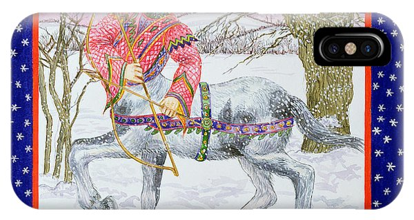 Centaur iPhone Case - Sagittarius Wc On Paper by Catherine Bradbury