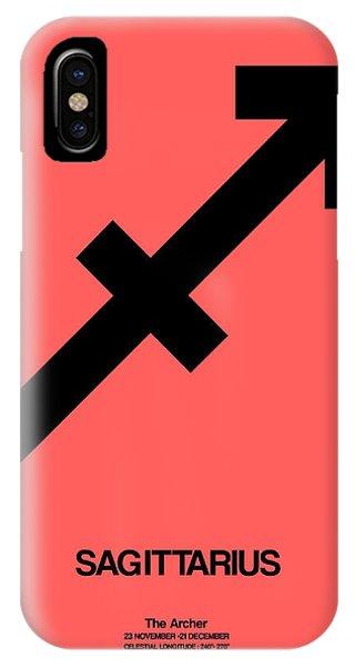 Sagittarius Zodiac Sign Black IPhone Case