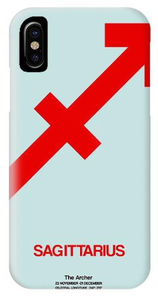 Sagittarius Zodiac Sign Red IPhone Case