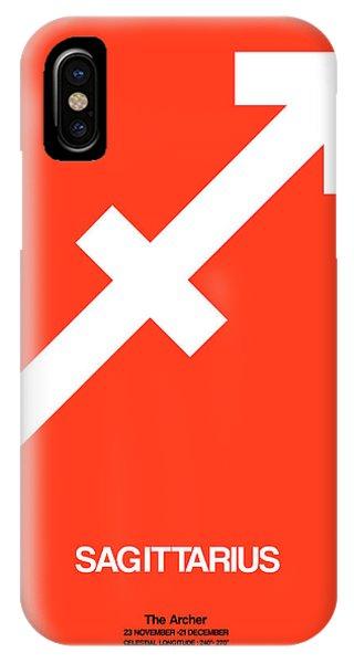 Sagittarius Zodiac Sign White On Orange IPhone Case