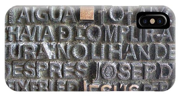 Sagrada Familia Door IPhone Case