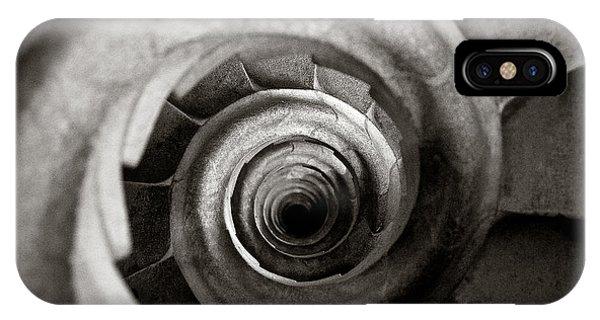 Monochrome iPhone Case - Sagrada Familia Steps by Dave Bowman