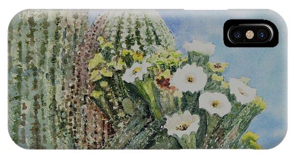 Saguaro In Bloom IPhone Case