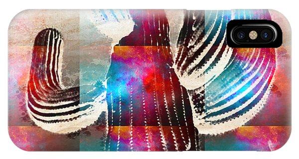 Saguaro Rainbow Collage IPhone Case
