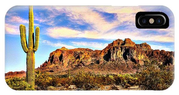 Saguaro Superstition Mountains Arizona IPhone Case