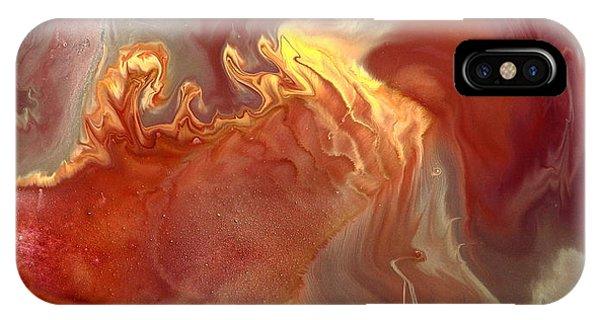 Sahara Dreams Fluid Abstract Art By Kredart IPhone Case