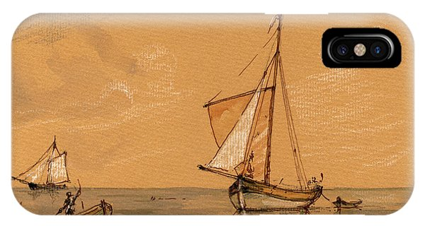 Nautical iPhone Case - Sail Ship by Juan  Bosco
