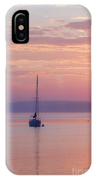Sailboat At Sunrise In Casco Bay Maine IPhone Case