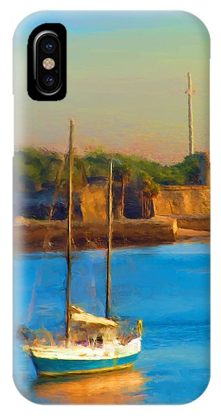 Da147 Sailboat By Daniel Adams IPhone Case