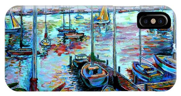 Sailboat Harbor IPhone Case