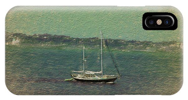 Sailboat In Bay IPhone Case