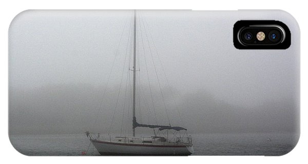 Sailboat In The Fog IPhone Case