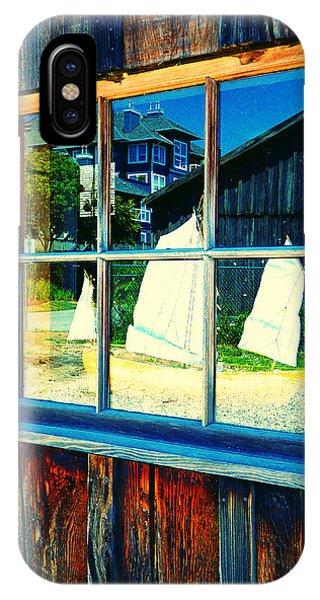 Sailboat In Window 2 IPhone Case
