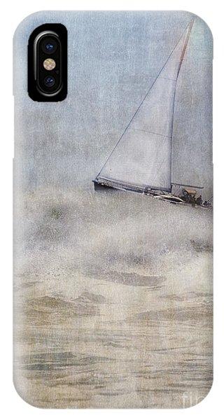 Sailboat On High Seas IPhone Case