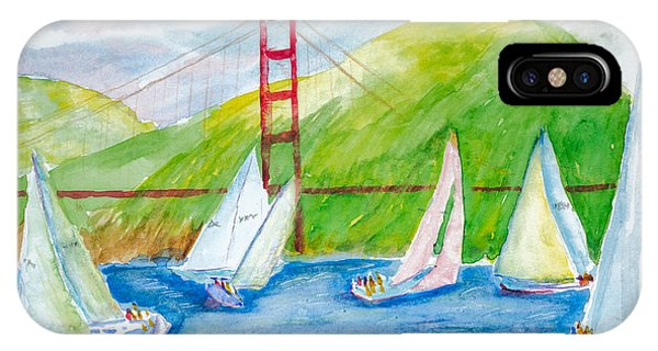 Sailboat Race At The Golden Gate IPhone Case