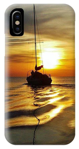 Sailboat Sunset 2 Pamlico Sound 2 4/24 IPhone Case