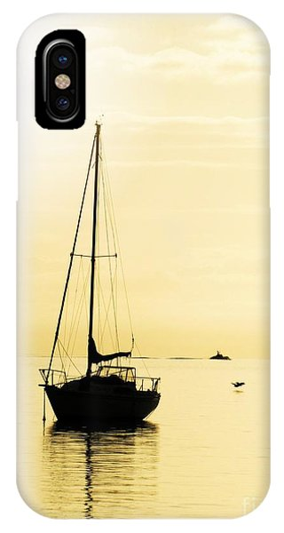Sailboat With Sunglow IPhone Case