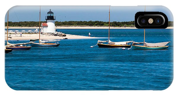Sailboats And Brant Point Lighthouse Nantucket IPhone Case