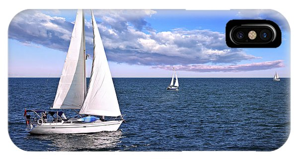 Sailboats At Sea IPhone Case