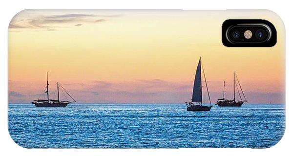 Sailboats At Sunset Off Key West Florida IPhone Case