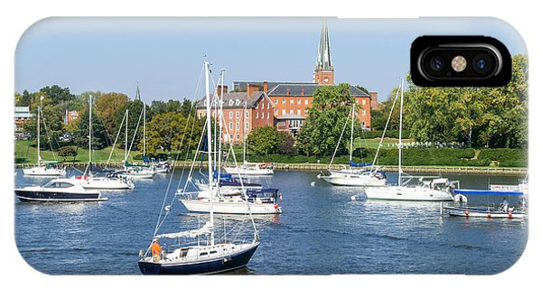 Sailboats By Charles Carroll House IPhone Case