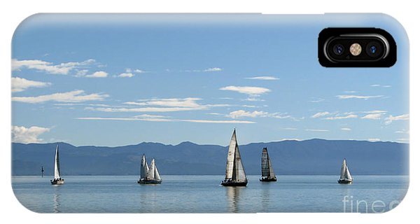 Sailboats In Blue IPhone Case