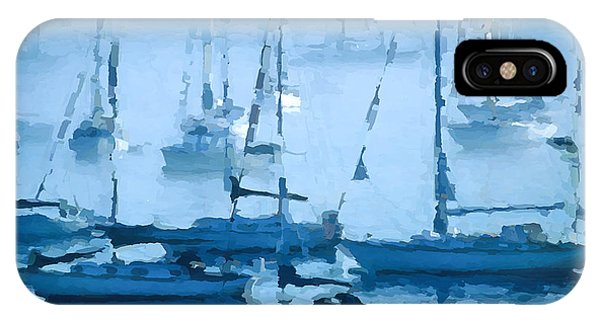 Sailboats In The Fog II IPhone Case