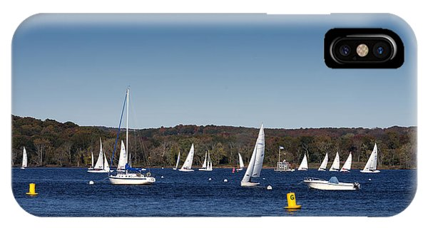 Sailboats On The Connecticut River IPhone Case