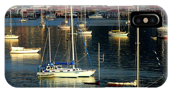 Sailboats Sunrise Phone Case by Tim Nielsen