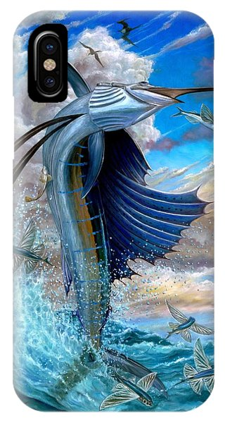 Sailfish And Flying Fish IPhone Case
