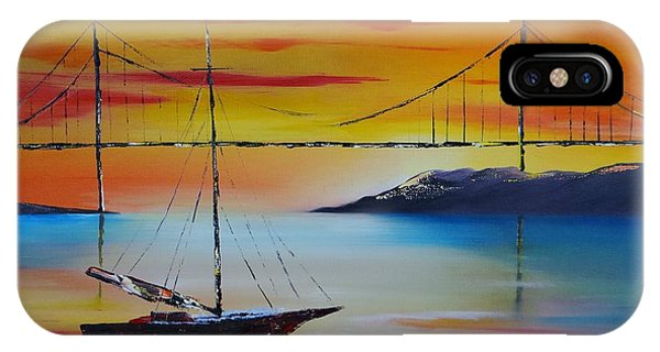 Sailing At Sunset IPhone Case