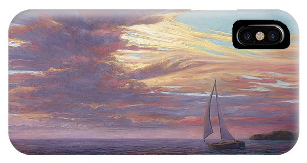 Scenery iPhone Case - Sailing Away by Lucie Bilodeau