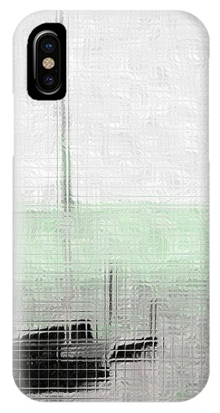 Sailing Boat At A Dock IPhone Case