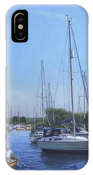 Sailing Boats At Christchurch Harbour IPhone Case