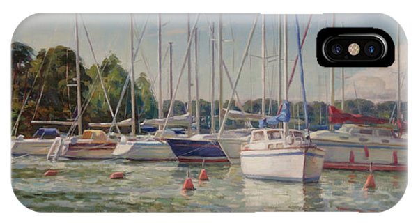 Sailing Boats In Harbor IPhone Case