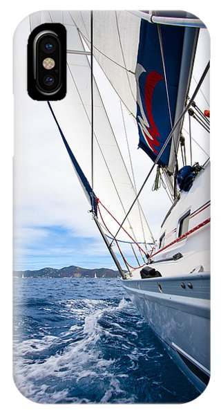Nautical iPhone Case - Sailing Bvi by Adam Romanowicz