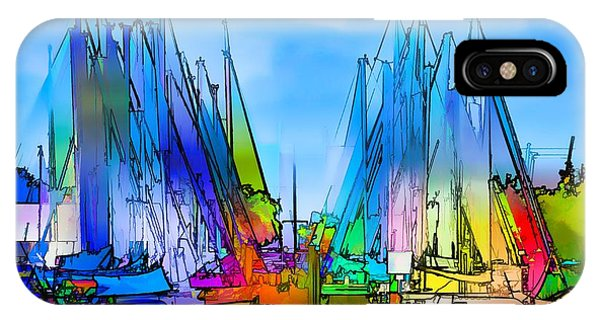 Sailing Club Abstract IPhone Case