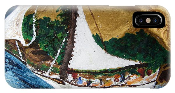 Sailing Forest Sea Phone Case by Debbie Nester