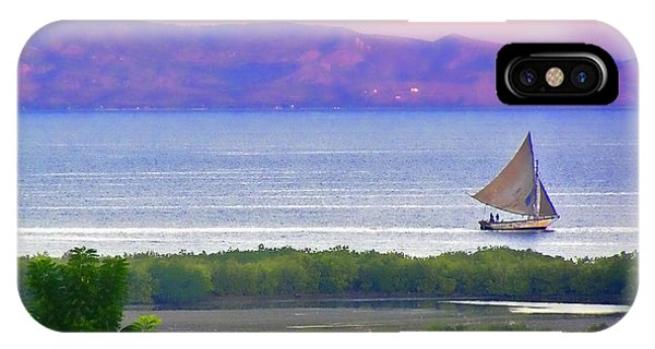 Sailing In Haiti IPhone Case