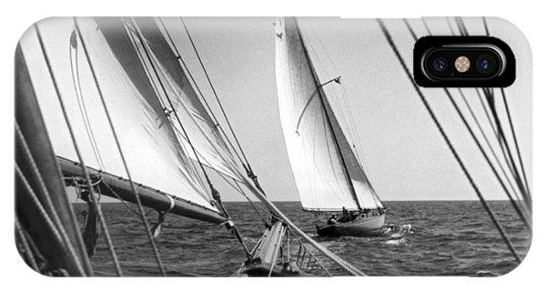Sailing In Los Angeles Regatta IPhone Case