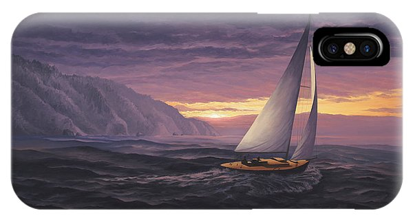 Sailing In Paradise - Big Sur IPhone Case
