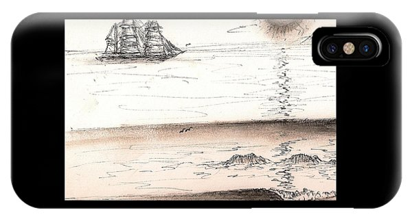 Sailing Into The Past IPhone Case