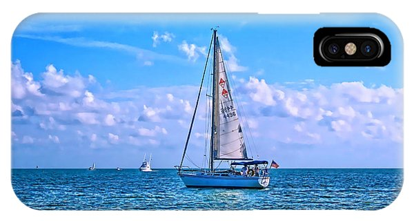 Sailing Off Of Key Largo IPhone Case