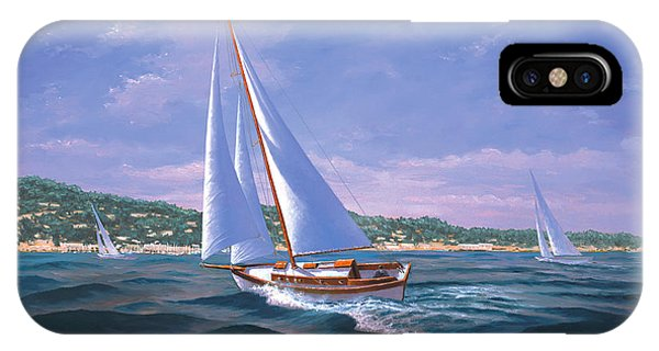 Sailing On Monterey Bay IPhone Case