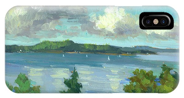 South Pacific Ocean iPhone Case - Sailing On Puget Sound by Diane McClary
